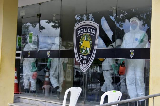 Forças Armadas fazem desinfecção em delegacias da Polícia Civil no RN em prevenção ao coronavírus