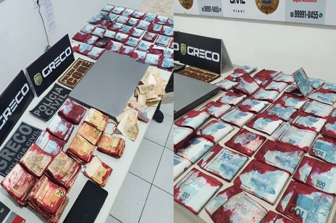 Grupo de Repressão ao Crime Organizado prende membro de quadrilha com R$ 117 mil em Teresina
