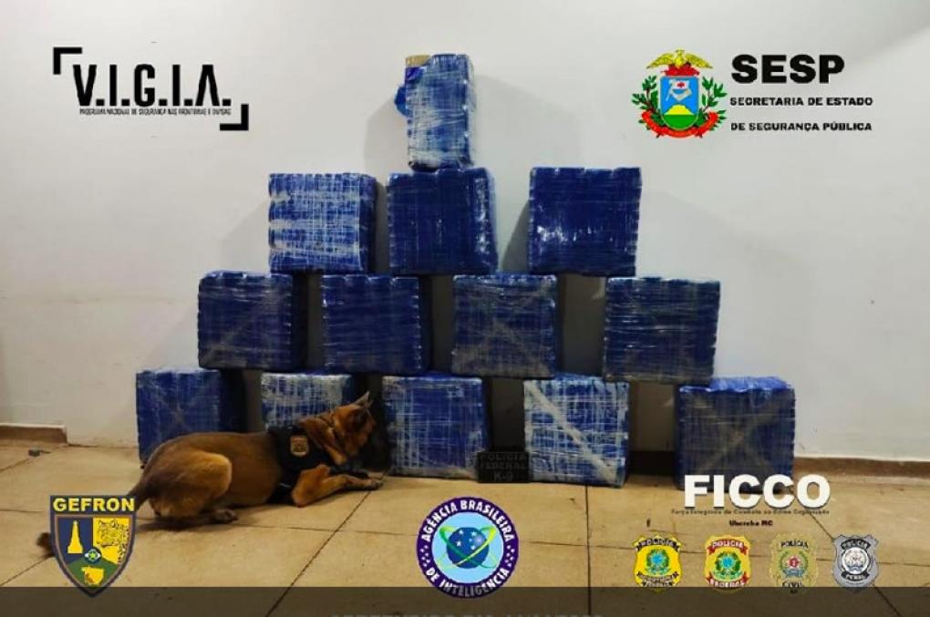 Polícia Civil do Mato Grosso e PF apreendem carga de R$ 10,2 milhões em cocaína