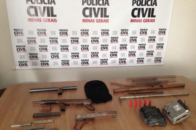 Polícia Civil de Minas localiza fábrica de metralhadoras artesanais