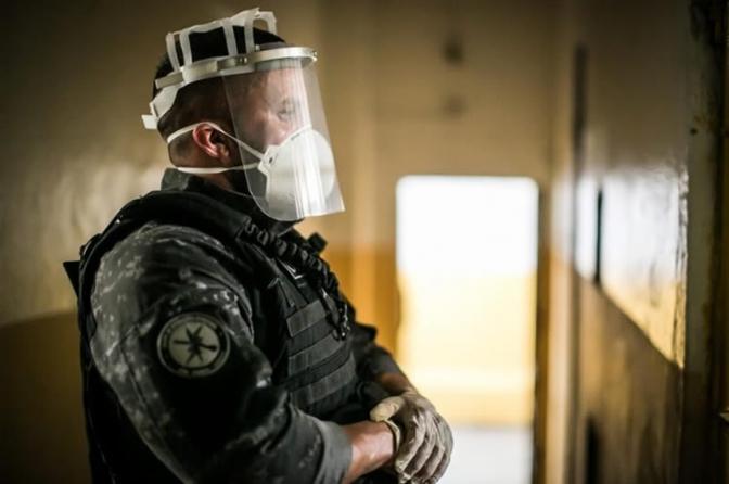 Mesmo usando máscaras, policiais penais são infectados pelo coronavírus!