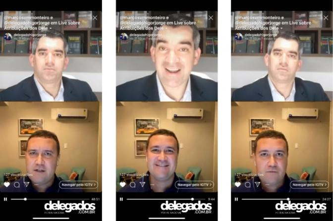 Assista a gravação da live Higor Jorge e Marcos Monteiro com o tema: Portal Delegados e Fake News