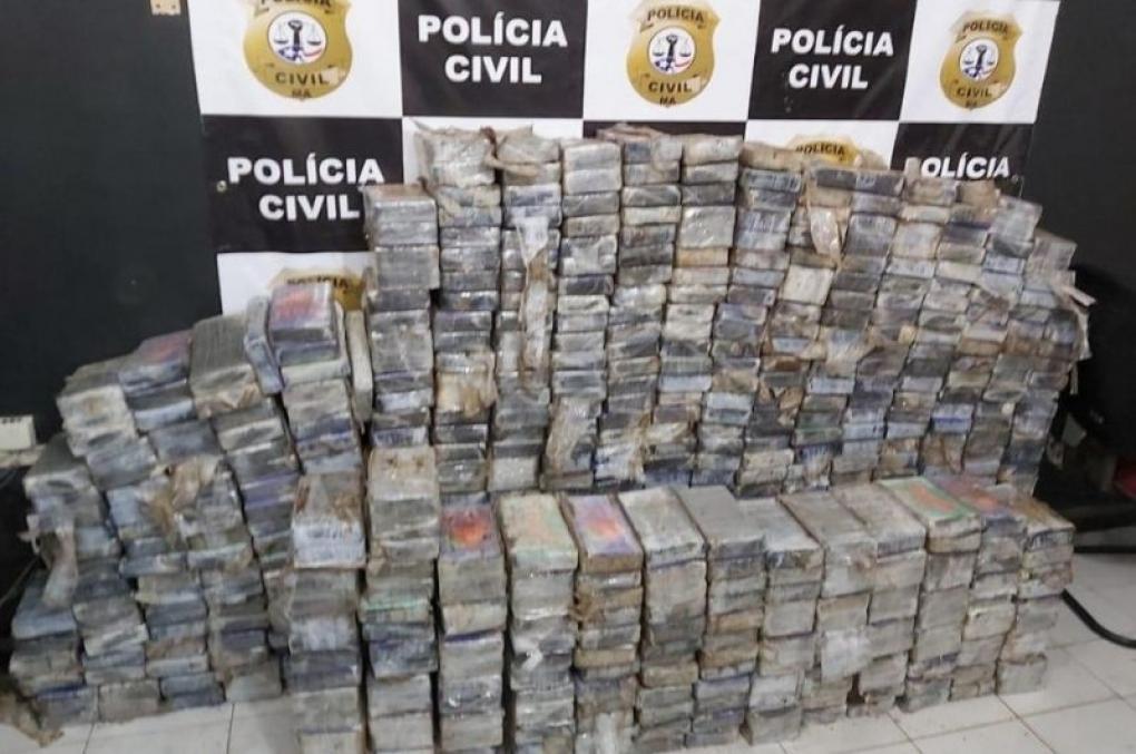Polícia Civil do MA apreende caminhão com mais de meia tonelada de pasta base de cocaína