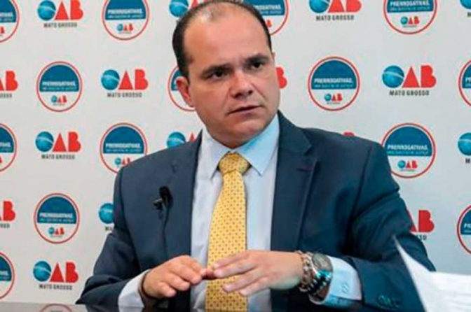 Presidente da OAB de Mato Grosso é preso suspeito de agredir esposa advogada