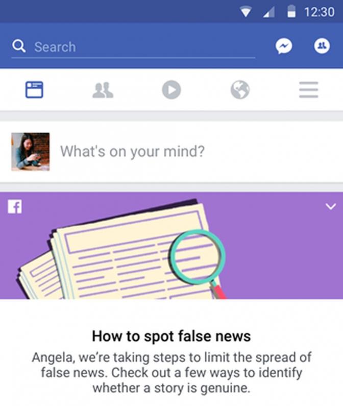 Facebook lança guia para usuário identificar notícia falsa na rede social