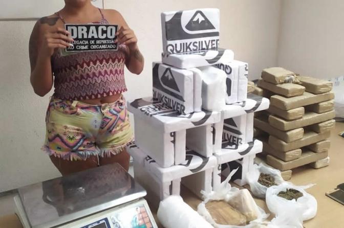 Polícia Civil localiza 50 kg de entorpecentes e registra a maior apreensão de cocaína na PB
