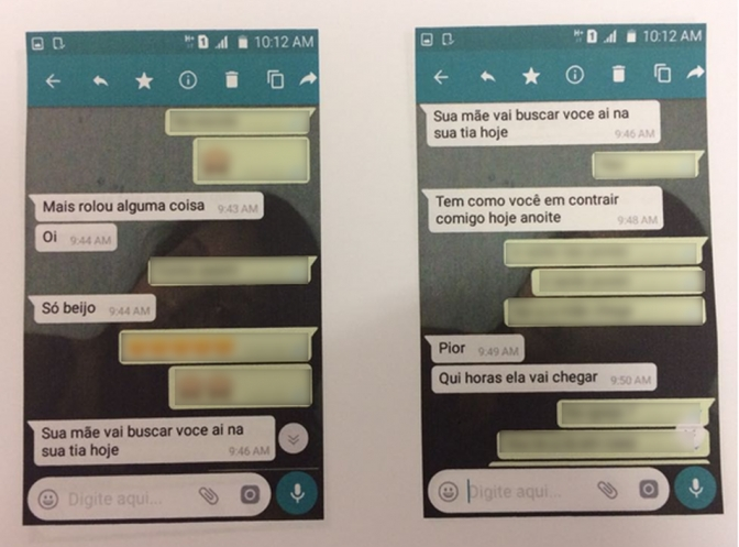 Pai vê mensagens que pedófilo mandava para menina de 9 anos e vai a encontro com a polícia