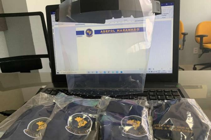 Adepol do Maranhão distribui 2 mil máscaras e 400 face shields para os delegados em todo o estado