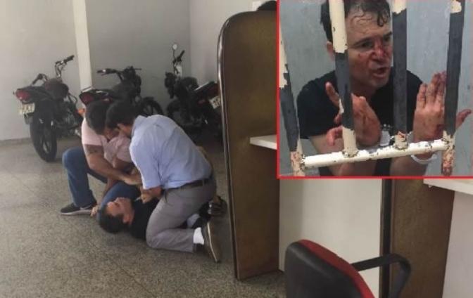 Advogado é preso, ameaça delegada e briga com investigador em delegacia! Veja o vídeo!
