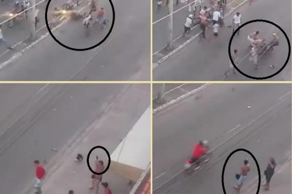 Policial feminina saca arma, atira e salva torcedor em Fortaleza; vídeo