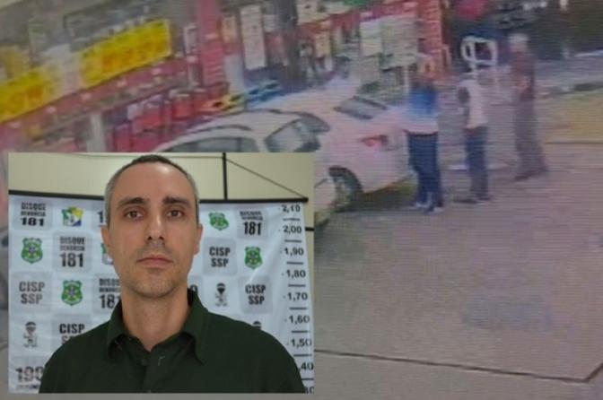 Delegado Hercos é baleado durante abordagem a suspeitos em posto de combustíveis deAracaju