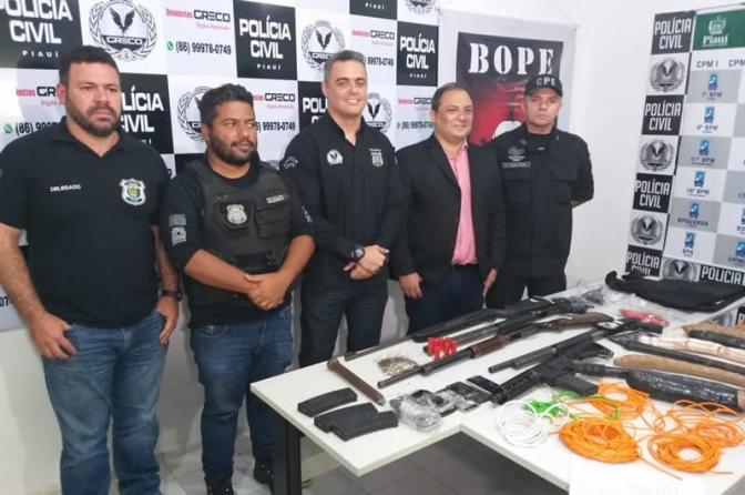 1morre e 9 são presos suspeitos de atirar em viaturas e tentar assaltar banco no PI