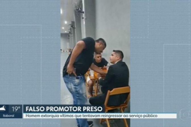 Falso promotor de Justiça é preso na região metropolitana do Rio; veja o vídeo