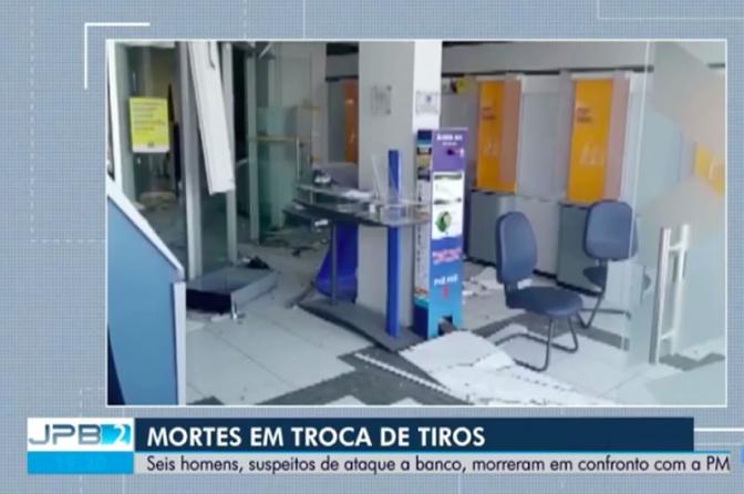 Seis suspeitos de explosão à banco morrem em confronto com a polícia, no Sertão da PB