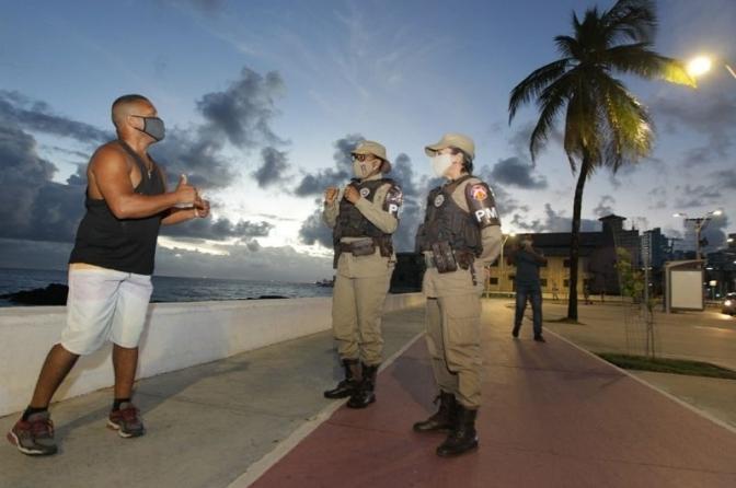 Bahia inicia vacinação dos policiais contra o coronavírus a partir desta quinta-feira