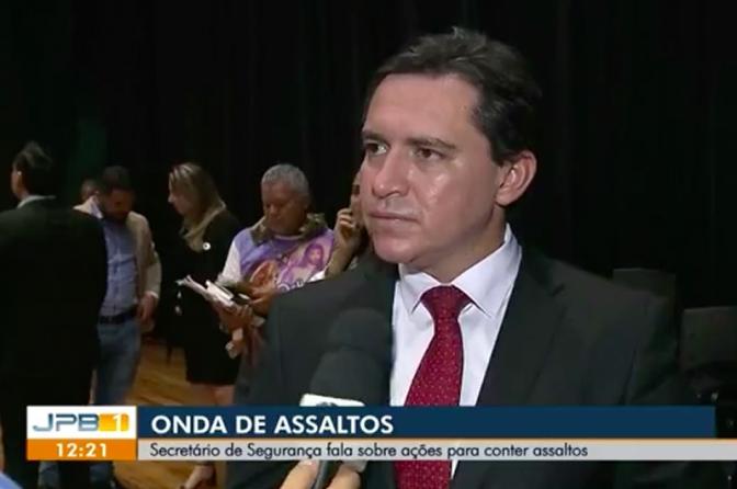 Secretário de Segurança da Paraíba fala sobre ações para combater crimes