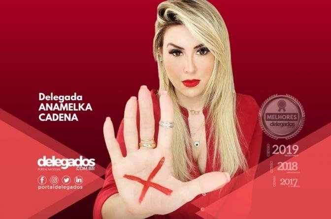 Anamelka é destaque nacional na Campanha Sinal Vermelho contra a violência doméstica