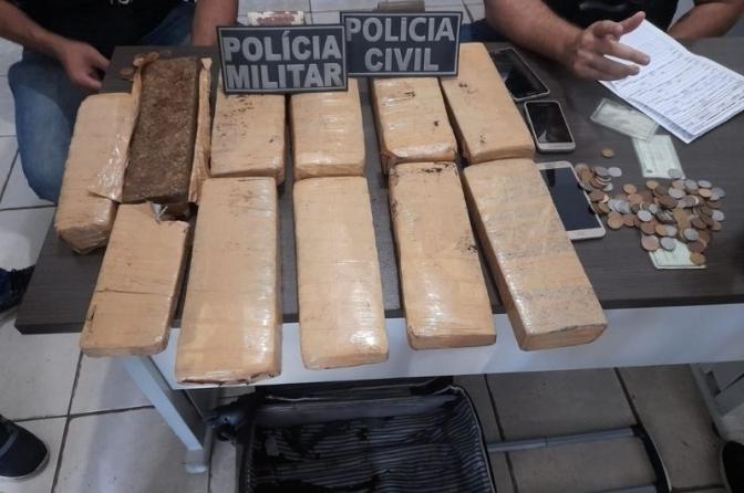 Operação Integrada! Policiais Civis e Militares do MA cumprem mandados e prendem traficantes com maconha