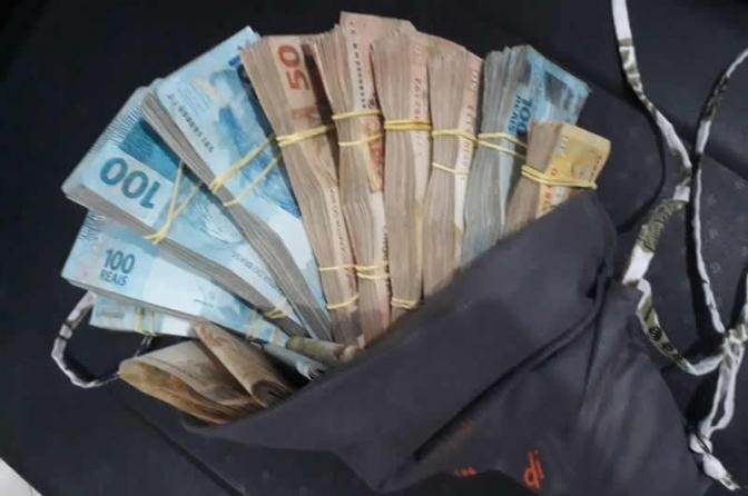Modelo de despacho sobre autuação em flagrante delito de dinheiro encontrado com suspeito