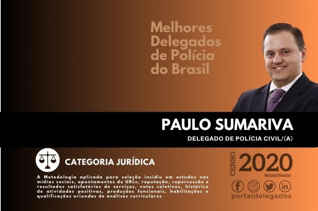 Paulo Sumariva segue na Lista dos Melhores Delegados de Polícia do Brasil! Censo 2020
