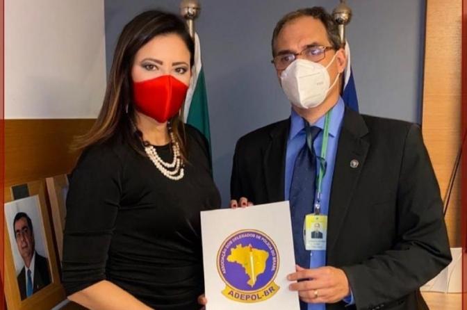 Raquel Gallinati, presidente do Sindpesp, toma posse como diretora da Adepol do Brasil