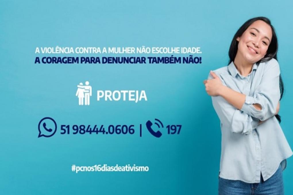 """Polícia Civil Gaúcha lança campanha """"PC nos 16 Dias de Ativismo"""""""