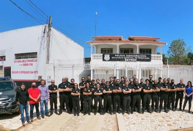 Acadepol de MTpromove estágio dos alunos delegados do XVI curso de formação na fronteira do Brasil e Bolívia