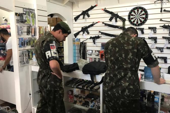 Lista de produtos controlados e armas de fogo de uso permito e restrito
