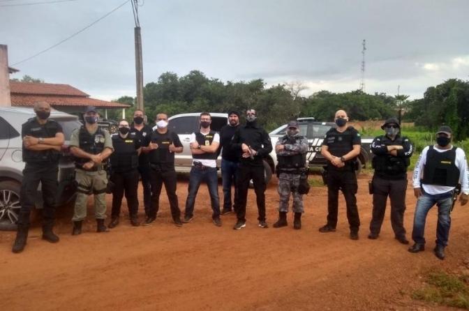Policiais prendem os mentores dos grandes assaltos de São João da Serra no PI