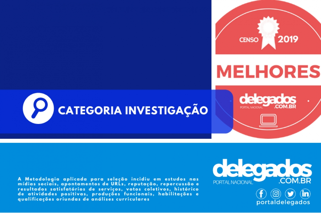 Lista Final dos Melhores Delegados de Polícia do Brasil! Censo 2019! Categoria Investigação
