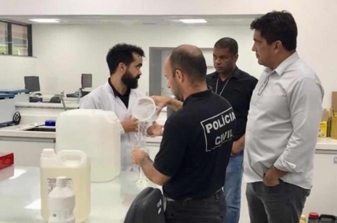 Polícia Civil do DF começa a produzir álcool 70% para suas delegacias
