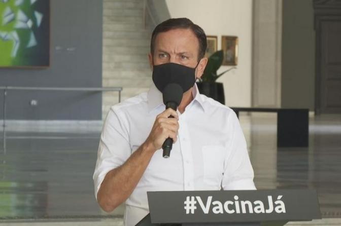 Doria anuncia que policiais federais em SP também serão vacinados em abril