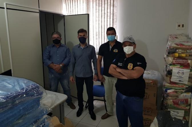 Polícia Civil do MT e Federação dos Consegs distribuem mais 7toneladas de alimentos