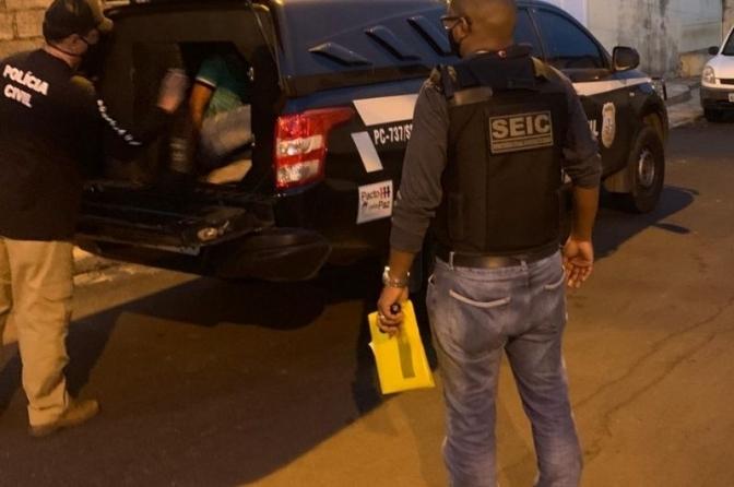 Policiais civis do MA prendem suspeito de tentar matar delegado de polícia do PI