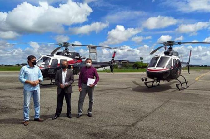 Secretaria de Segurança da PB intensificaações com a participação dehelicópteros