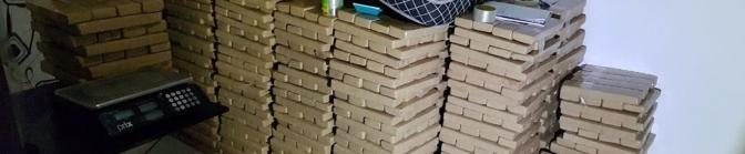 PF apreende 1,8 tonelada de maconha e prende 5 em chácaras de Goiás