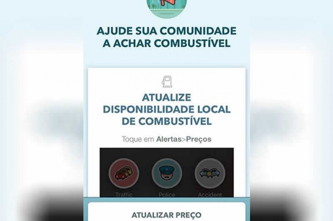 Waze libera recurso que indica postos que ainda têm gasolina