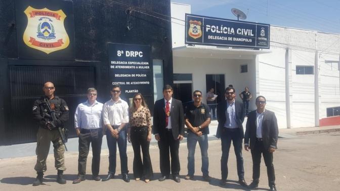 Sindepol do Tocantins participa da inauguração da nova sede da Policia Civil