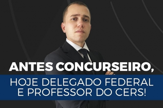 Conheça Jorge Florêncio, Delegado da PF, ex-aluno e agora professor do CERS com 29 anos