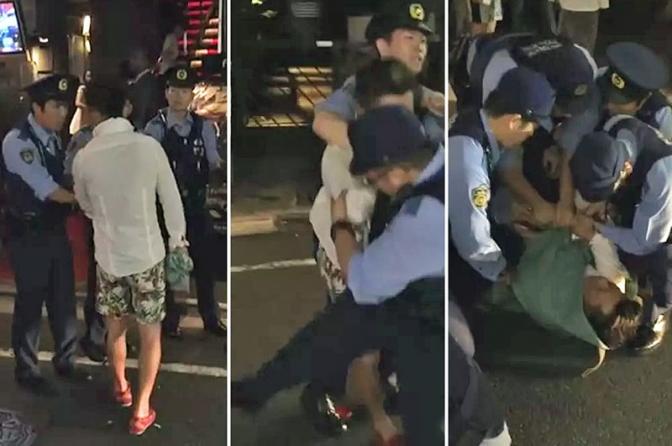 Polícia do Japão usa tática sem dano para prender pessoas
