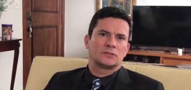 Em vídeo, Sergio Moro diz ter apoio da 'grande maioria'