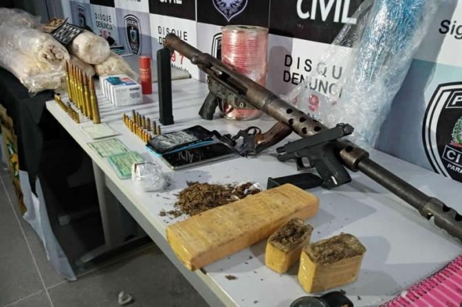 Forças Policiais da PB, PE e RN apreendem armas de fogo de grosso calibre