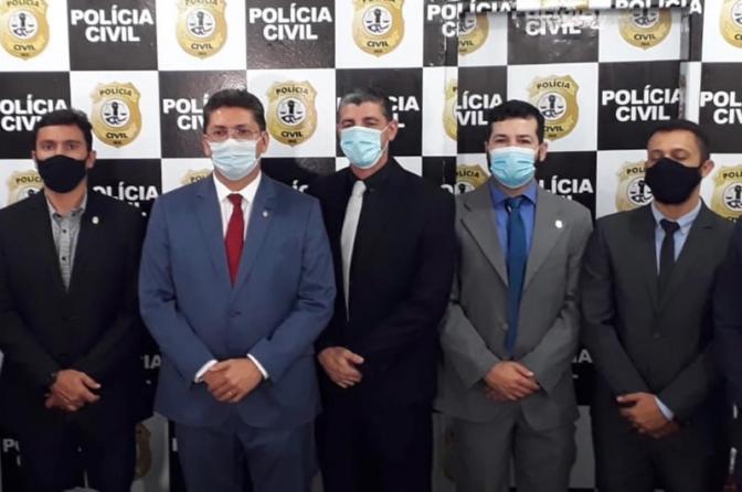 Jefferson Portela e André Gossain participam da posse do novo delegado regional de Polícia Civil em Imperatriz