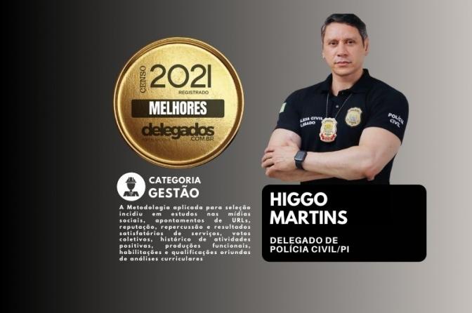 Higgo Martins continua na história dos Melhores Delegados de Polícia do Brasil! Censo 2019