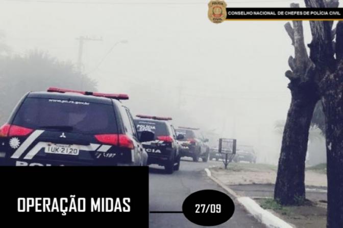 Polícias Civis de todo o Brasil prendem 3.649 pessoas durante Operação Midas